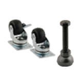 Casters- Leveling Feet