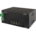 PULSAR DSB54 The DIN/Switch DSB54 5-port switch for 4 IP cameras with battery backup