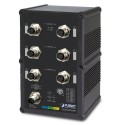 PLANET  IGS-5227-6MT Industrial IP67-rated 6-Port 10/100/1000T M12 Managed Ethernet Switch (-40~75 degrees C, A-coded M12)