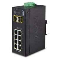PLANET IGS-1020TF Industrial 8-Port 10/100/1000T + 2 1000X SFP Ethernet Switch (-40~75 degrees C)