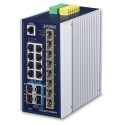 PLANET IGS-6325-8T4X Industrial L3 8-Port 10/100/1000T + 4-Port 10G SFP+ Managed Ethernet Switch