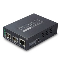PLANET GT-1205A 10/100/1000BASE-T to Dual 100/1000BASE-X SFP Media Converter