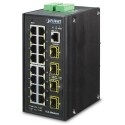 PLANET IGS-20040MT L2+ Industrial 16-Port 10/100/1000T + 4 100/1000X SFP Managed Switch