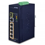 PLANET IGS-614HPT Industrial 4-Port 10/100/1000T 802.3at PoE + 1-Port 10/100/1000T + 1-Port 100/1000X SFP Gigabit Ethernet Switch