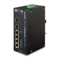 PLANET IGS-624HPT Industrial 4-Port 10/100/1000T 802.3at PoE+ w/ 2-Port 100/1000X SFP Ethernet Switch