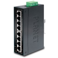 PLANET IGS-801T 8-Port 10/100/1000Mbps Industrial Gigabit Ethernet Switch w/ Wide Operating Temperature