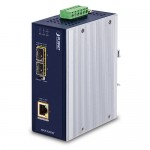 PLANET IGUP-1205AT Industrial 2-Port 100/1000X SFP to 1-Port 10/100/1000T 802.3bt PoE++ Media Converter