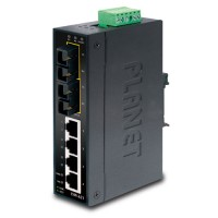 PLANET ISW-621S15 4-Port 10/100Base-TX + 2-Port 100Base-FX Industrial Fast Ethernet Switch (-10~60 Degree C operate temperature)