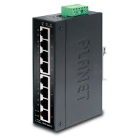 PLANET ISW-801T 8-Port 10/100Mbps Industrial Fast Ethernet Switch for Wide Temperature Operation