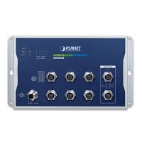 PLANET WGS-5225-8MT Industrial L2+ 8-Port 10/100/1000T M12 Wall-mount Managed Switch