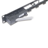 APC AR8451 Data Distribution 1U Panel, Holds 4 each Data Distribution Cables for a Total of 24 Ports