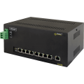 PULSAR DSA98 The DIN/Switch DSA98 9-port switch for 8 IP cameras with power supply