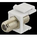 PULSAR GF-GF-K PACK GF-GF double F type adapter (professional), Keystone