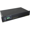 PULSAR RSUPS54R 5-port switch for 4 IP cameras IP with battery backup for cameras and recorder, RACK mounted