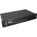 PULSAR RSUPS98R 9-port switch for 8 IP cameras IP with battery backup for cameras and recorder, RACK mounted